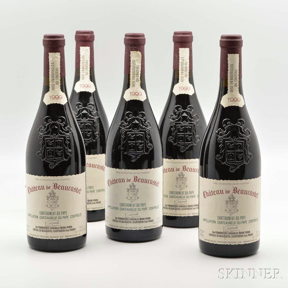 Chateau de Beaucastel Chateauneuf du Pape 1999, 5 bottles