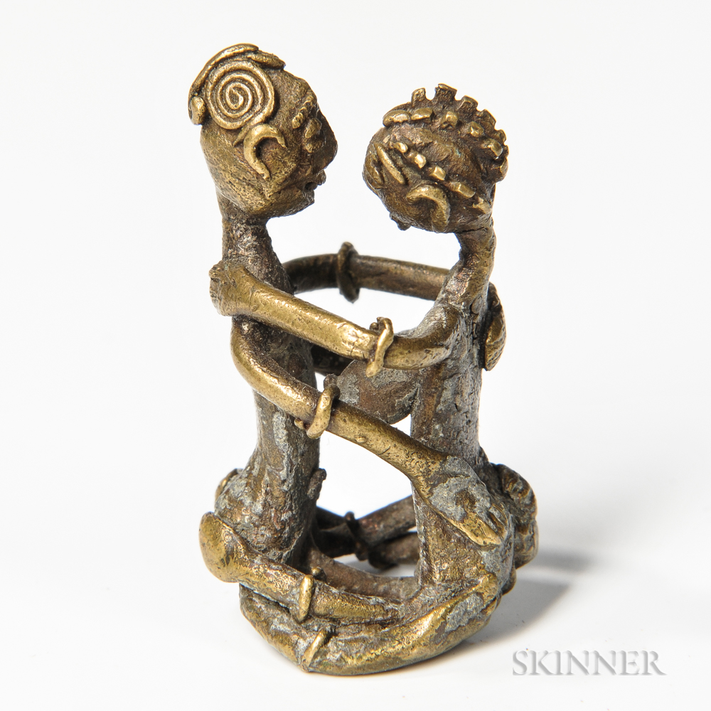 Akan Goldweight of a Couple Mating