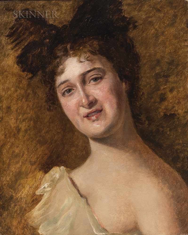 Vlaho Bukovac (Croatian, 1855-1922)      Portrait of a Woman