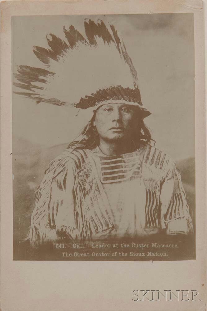 """Framed Painting or Photograph of Chief """"Gall,"""""""