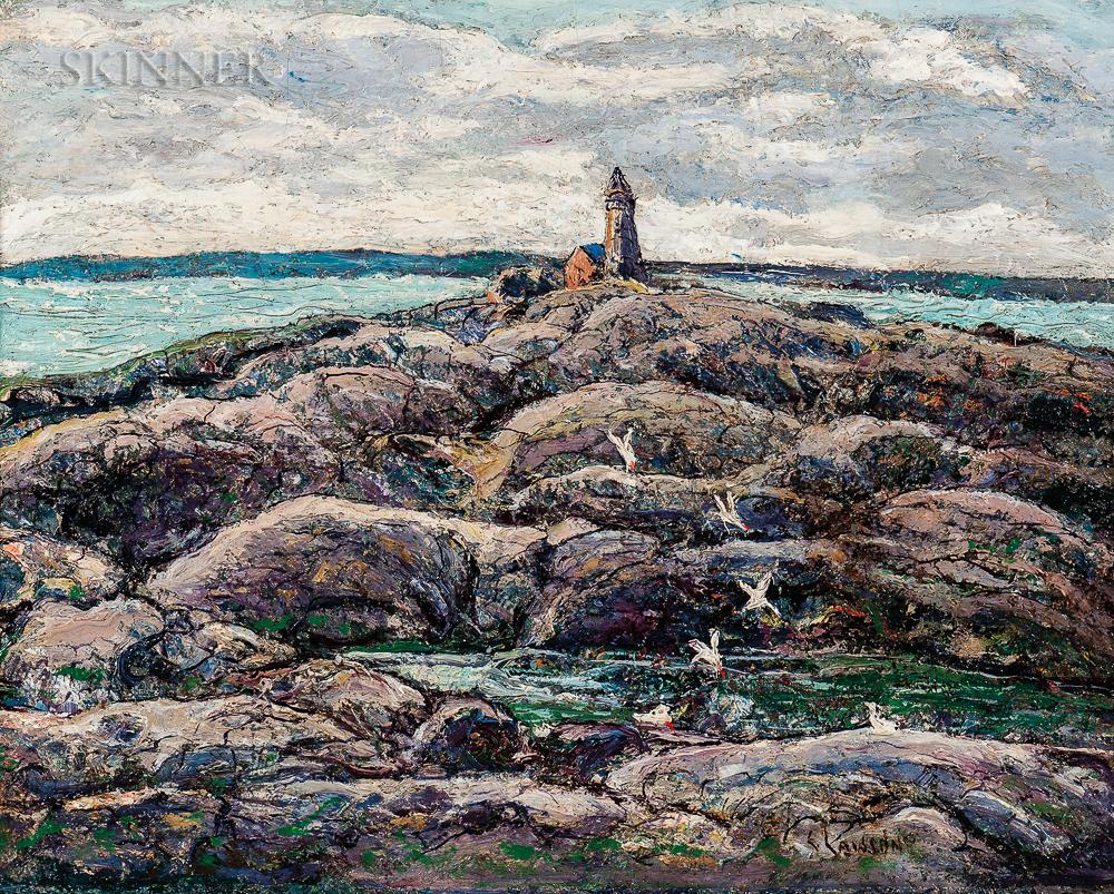 Ernest Lawson (American, 1873-1939)      Peggy's Cove