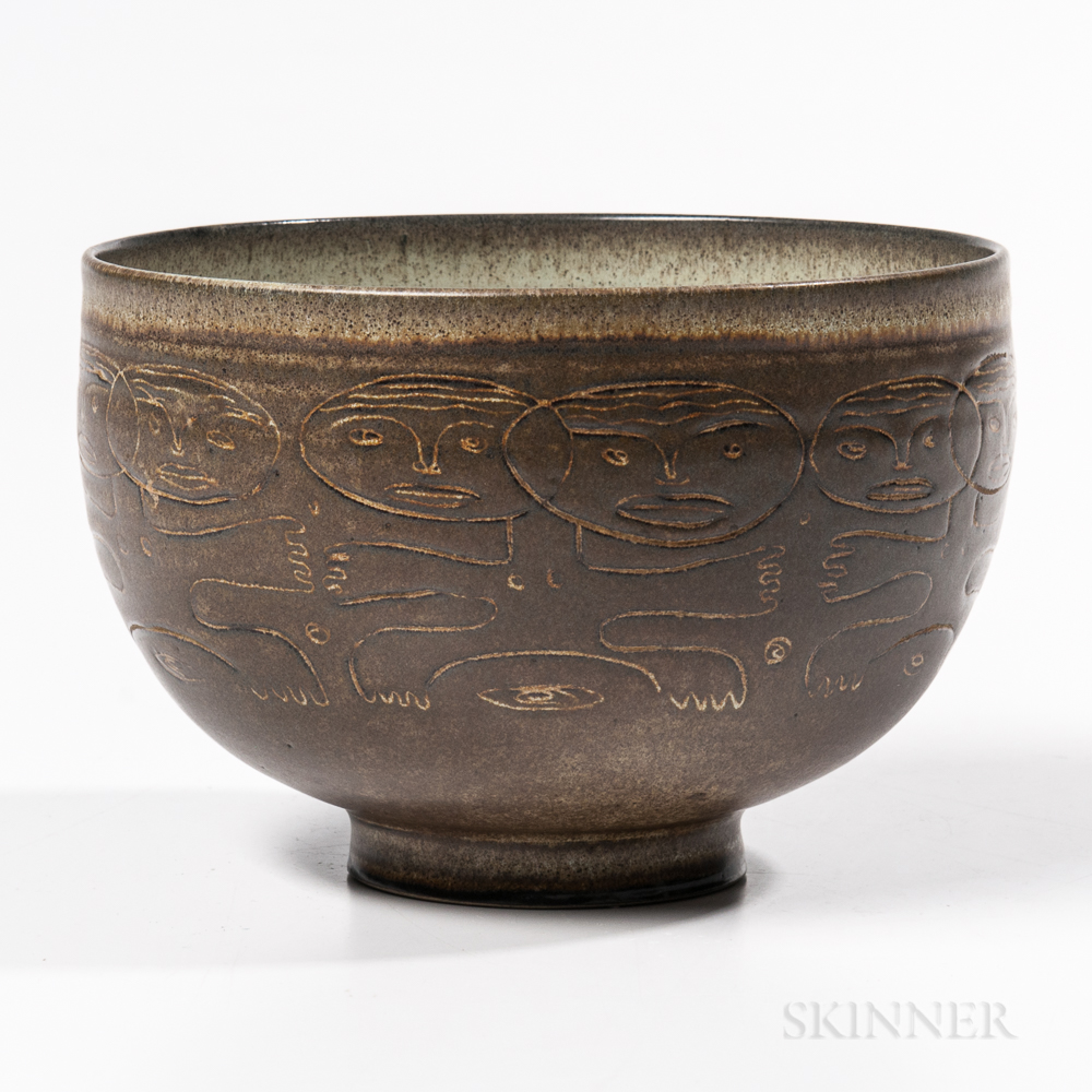 Mary and Edwin Scheier Studio Pottery Bowl