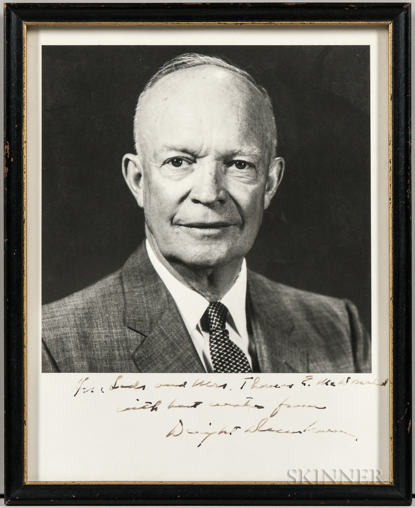 Eisenhower, Dwight D. (1890-1969) Signed and Inscribed Photograph.