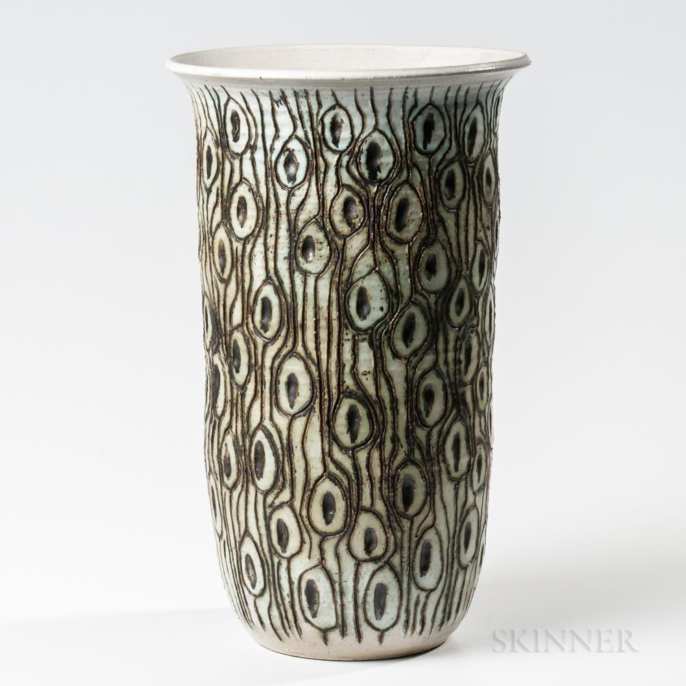 J. David Broudo Modern Studio Pottery Floor Vase