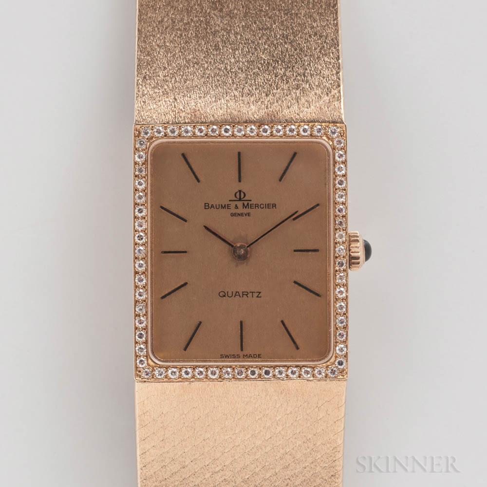 Baume & Mercier 14kt Gold Quartz Wristwatch
