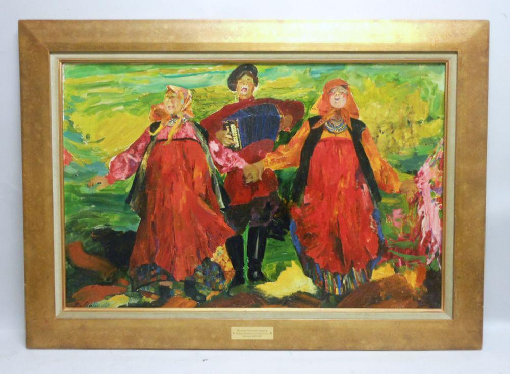 Filipp Malyavin (Russian, 1869-1940)      Russian Peasants Singing