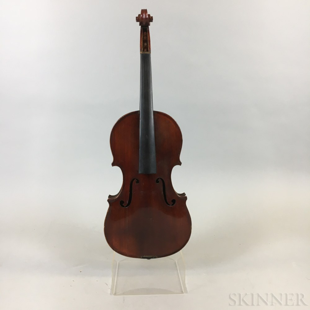 French Three-quarter Size Violin, Jerome Thibouville-Lamy