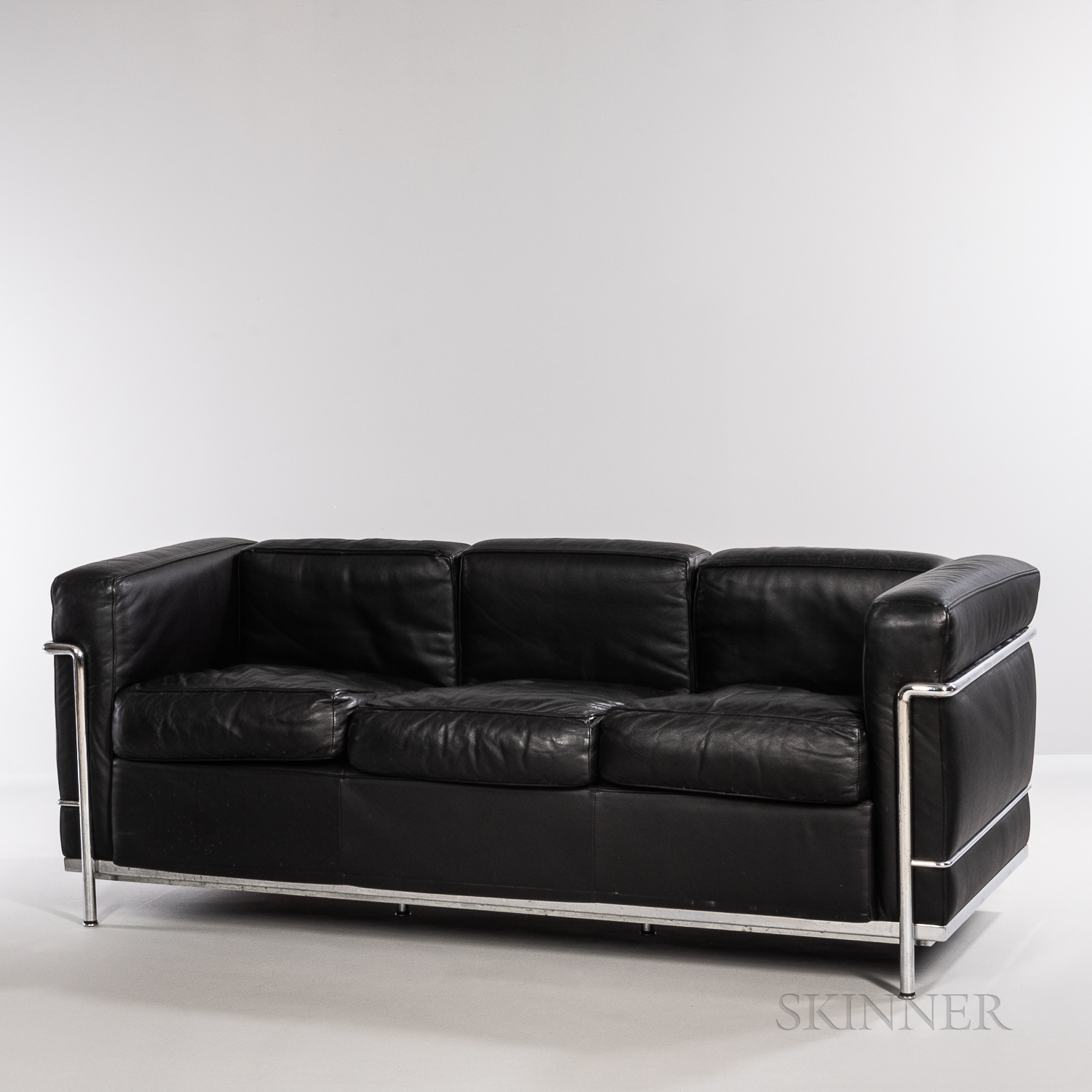 Le Corbusier (French, 1887-1965) by Cassina LC2 Three-seat Sofa