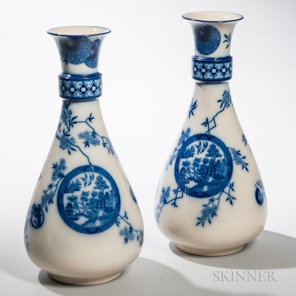 Pair of Pinder Bourne & Co. Vases