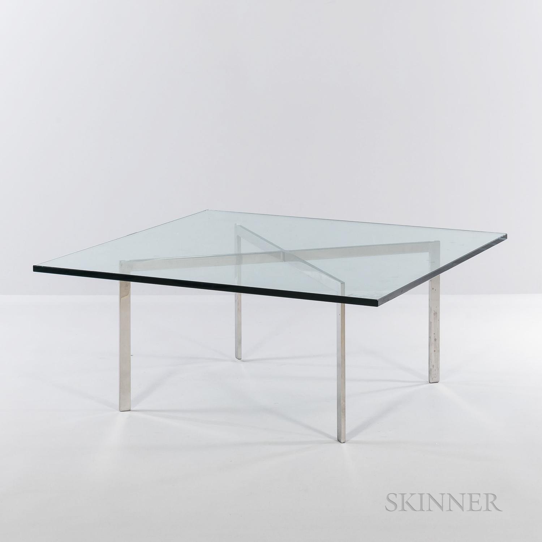 Ludwig Mies van der Rohe (German, 1886-1969) for Knoll Barcelona Table