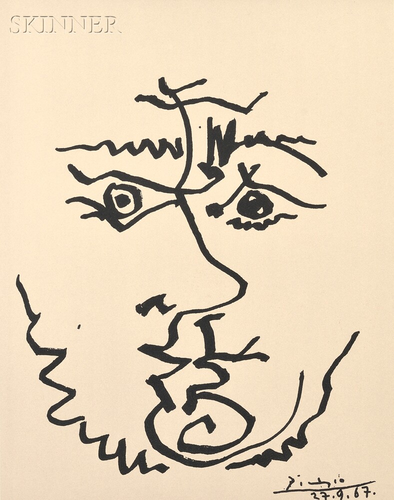 After Pablo Picasso (Spanish, 1881-1973)      Visage