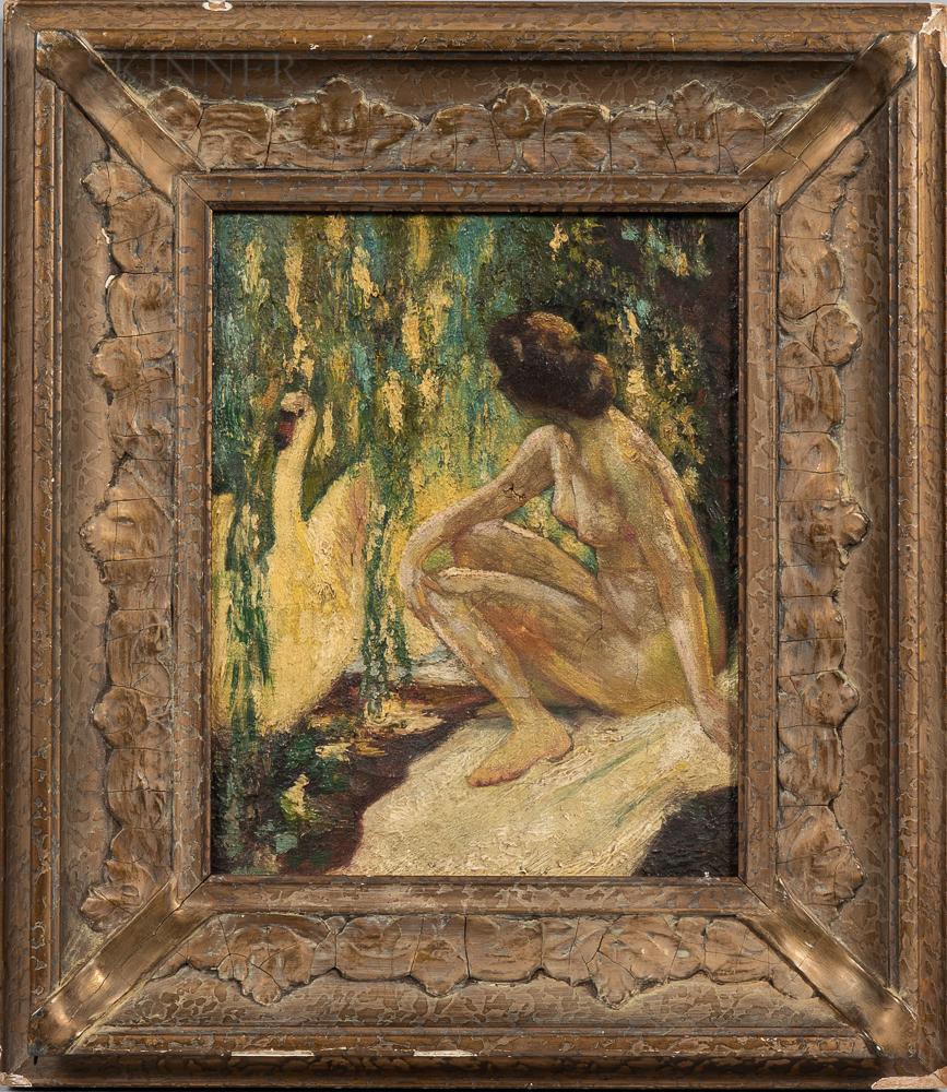 School of Lillian Mathilde Genth (American, 1876-1953)      Leda and the Swan