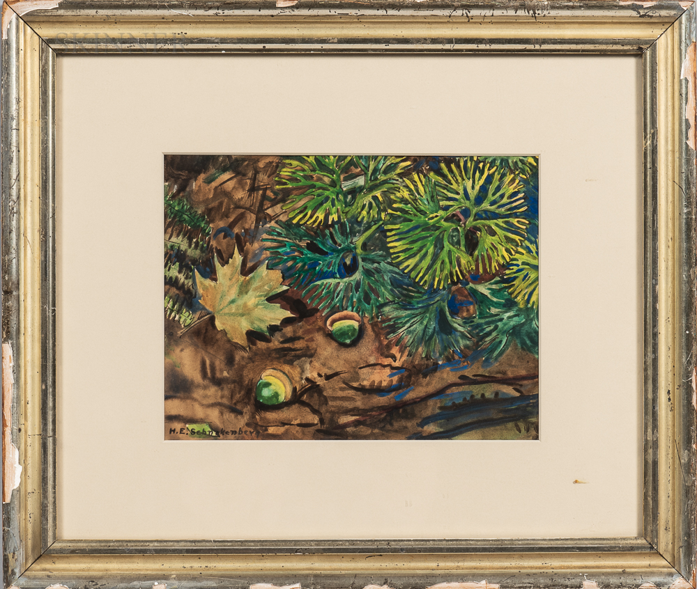Henry Schnakenberg (American, 1892-1970)      Acorn and Oak Leaf