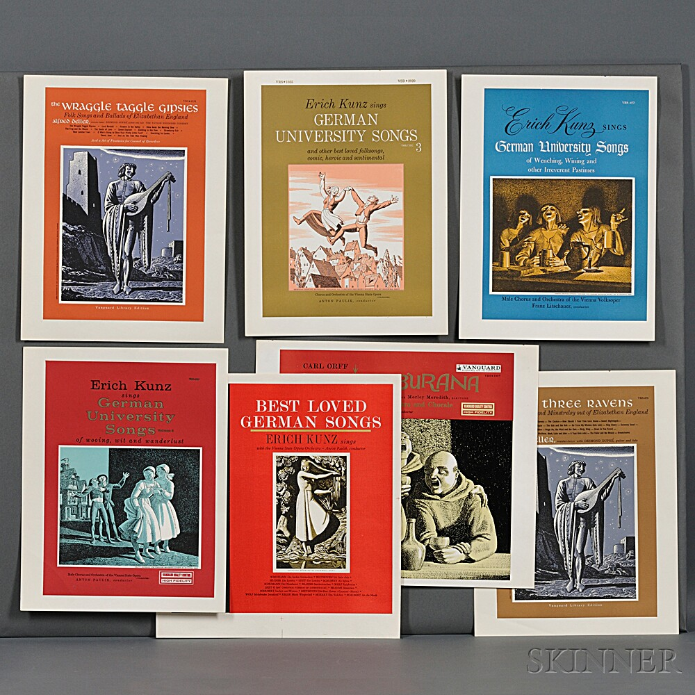 Kent, Rockwell (1882-1971) Seven Proofs for Kent LP Record Jacket Covers, 1960s-1970s.