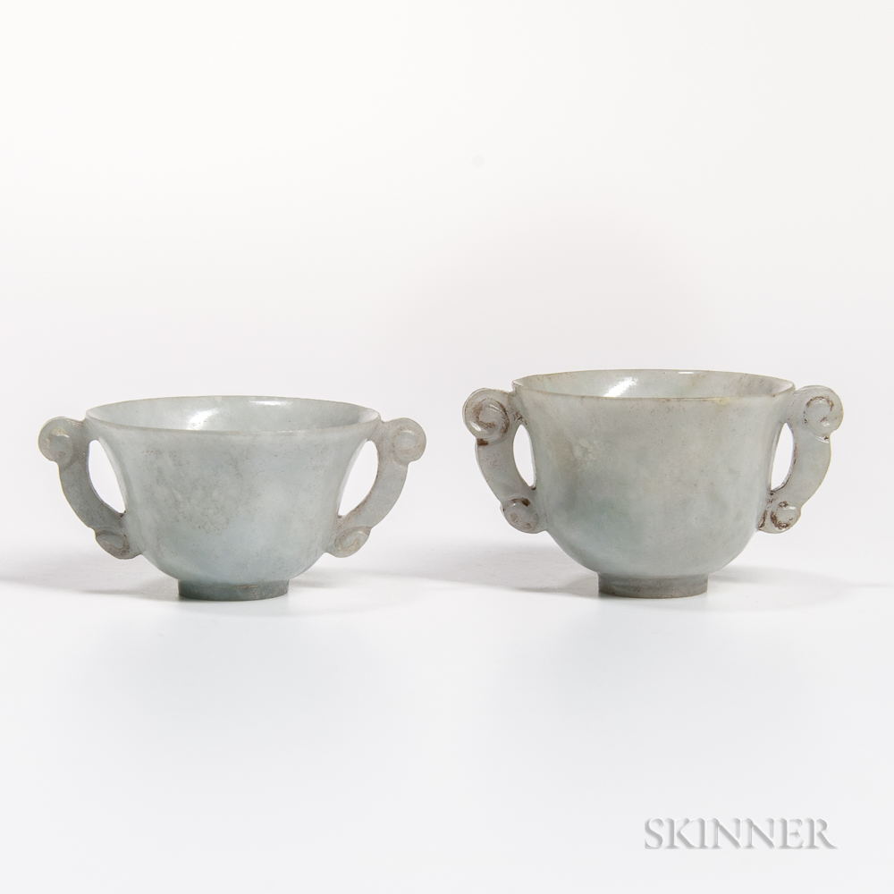 Two Jadeite Cups