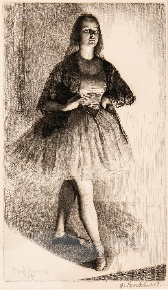 Gerald Leslie Brockhurst (British, 1890-1978)      Six Portrait Etchings: The Dancer (The Artist's Wife)