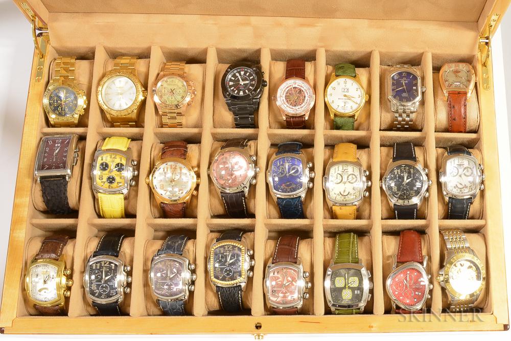 Twenty-four Designer Fashion Wristwatches