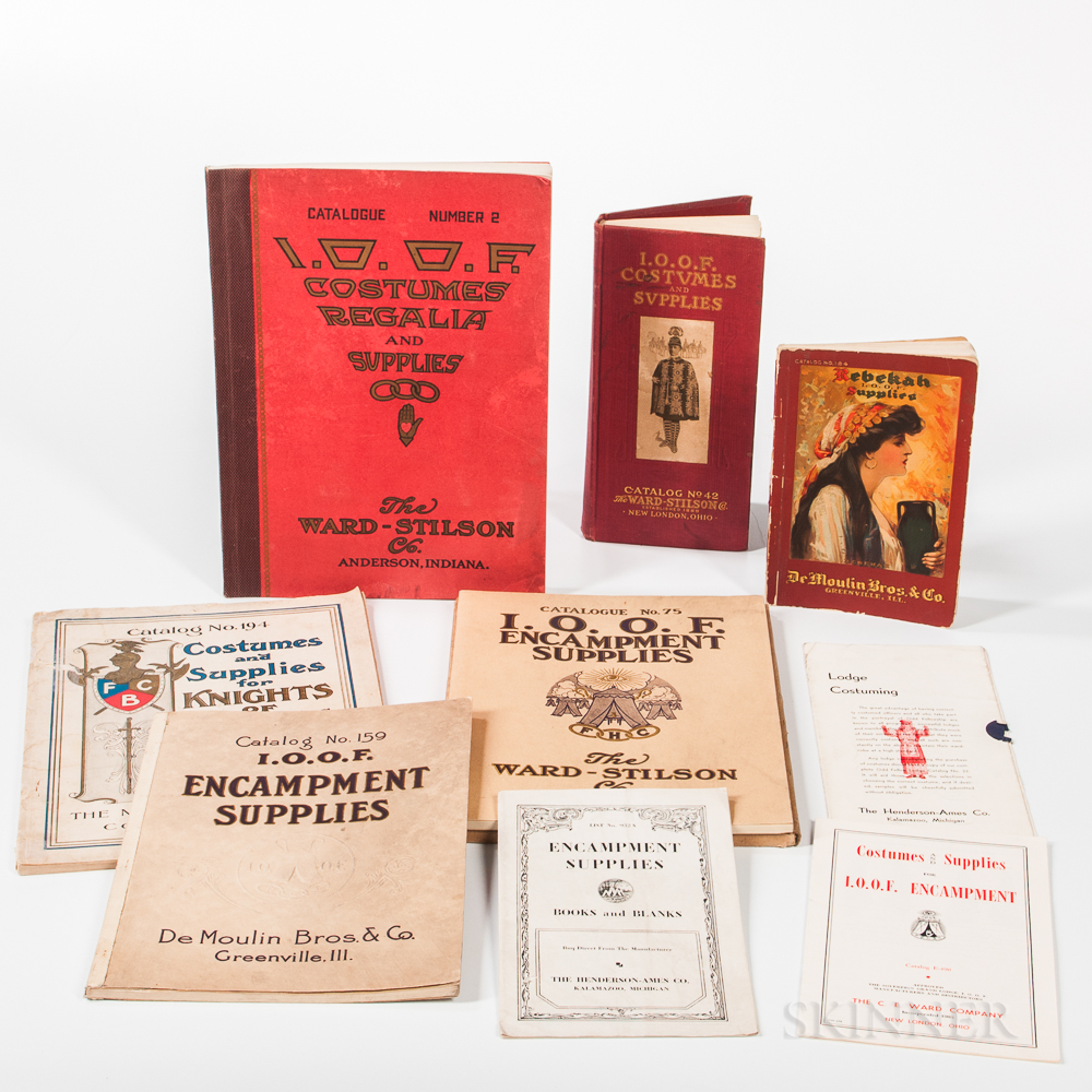 Nine Odd Fellows, Rebekah, and Knights of Pythias Costume and Supplies Catalogs