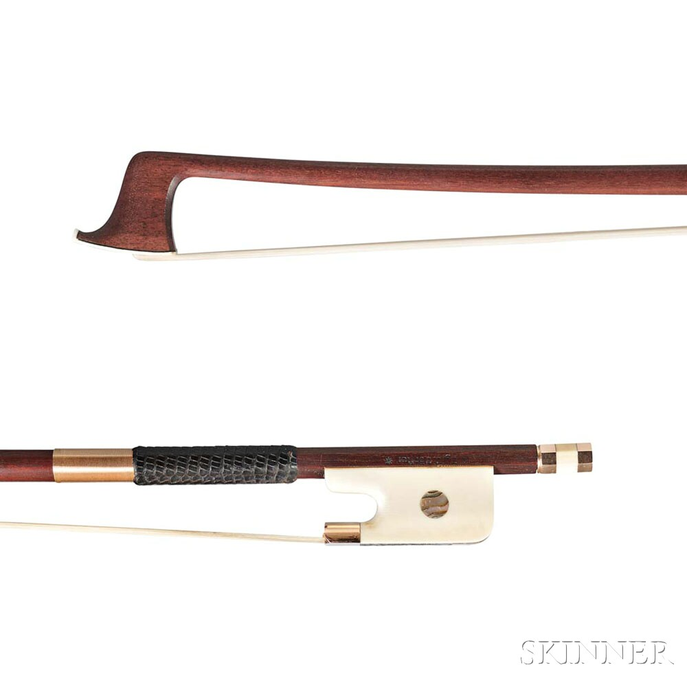Gold-mounted Viola Bow, Dörfler Workshop, Bubenreuth