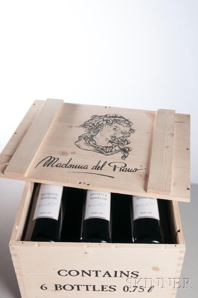 Valdicava Brunello di Montalcino Madonna del Piano Riserva 2007, 6 bottles