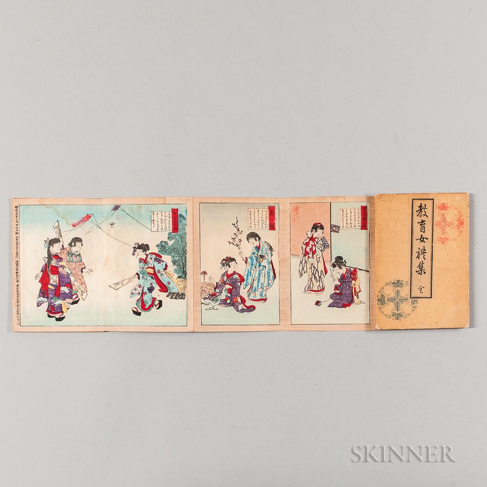 Woodblock Print Book, Kyoiku Jorai shu   (Collection of Lady's Etiquette)