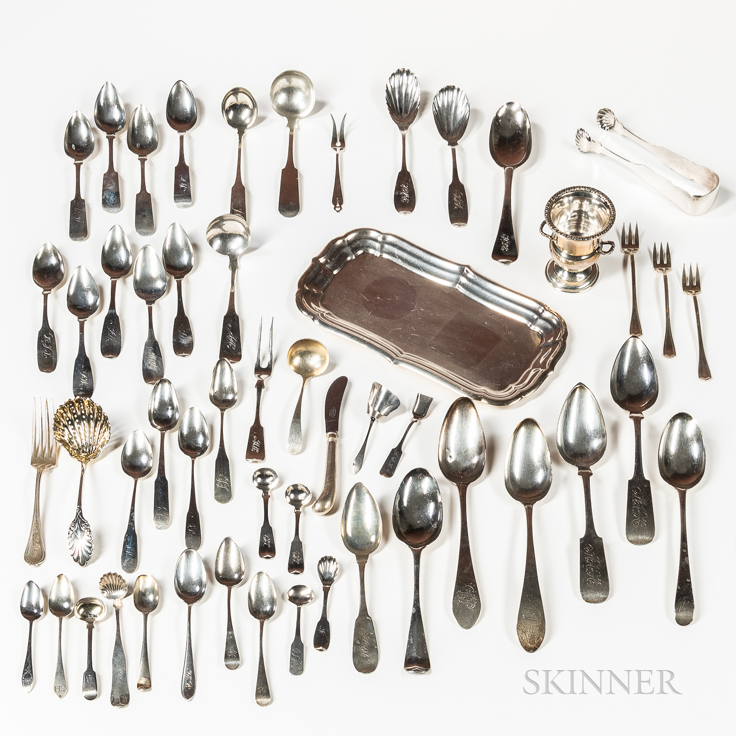 Group of Sterling and Coin Silver
