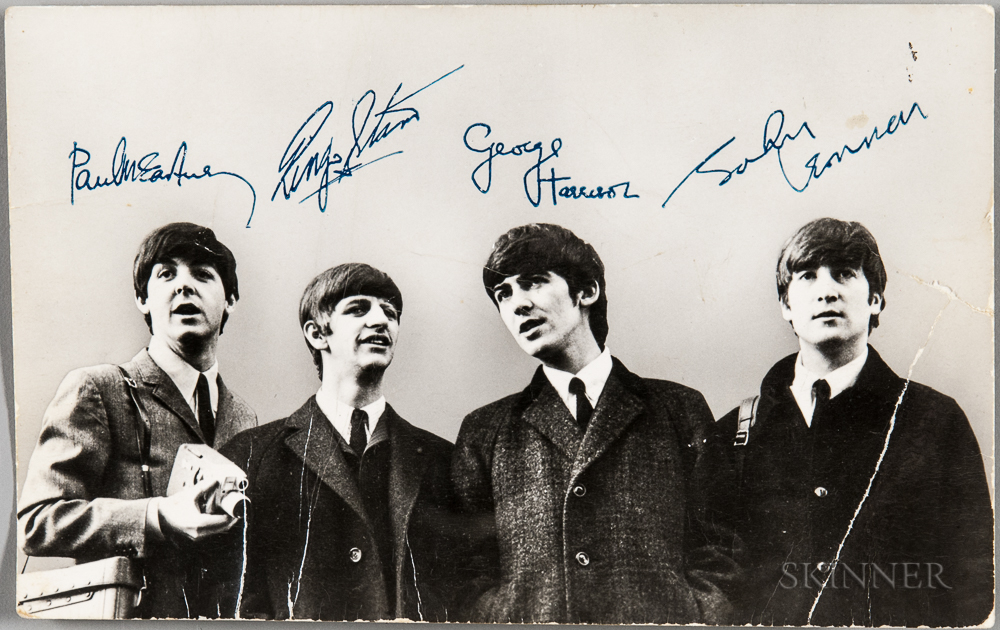 Beatles Signed Card, Early 1960s.