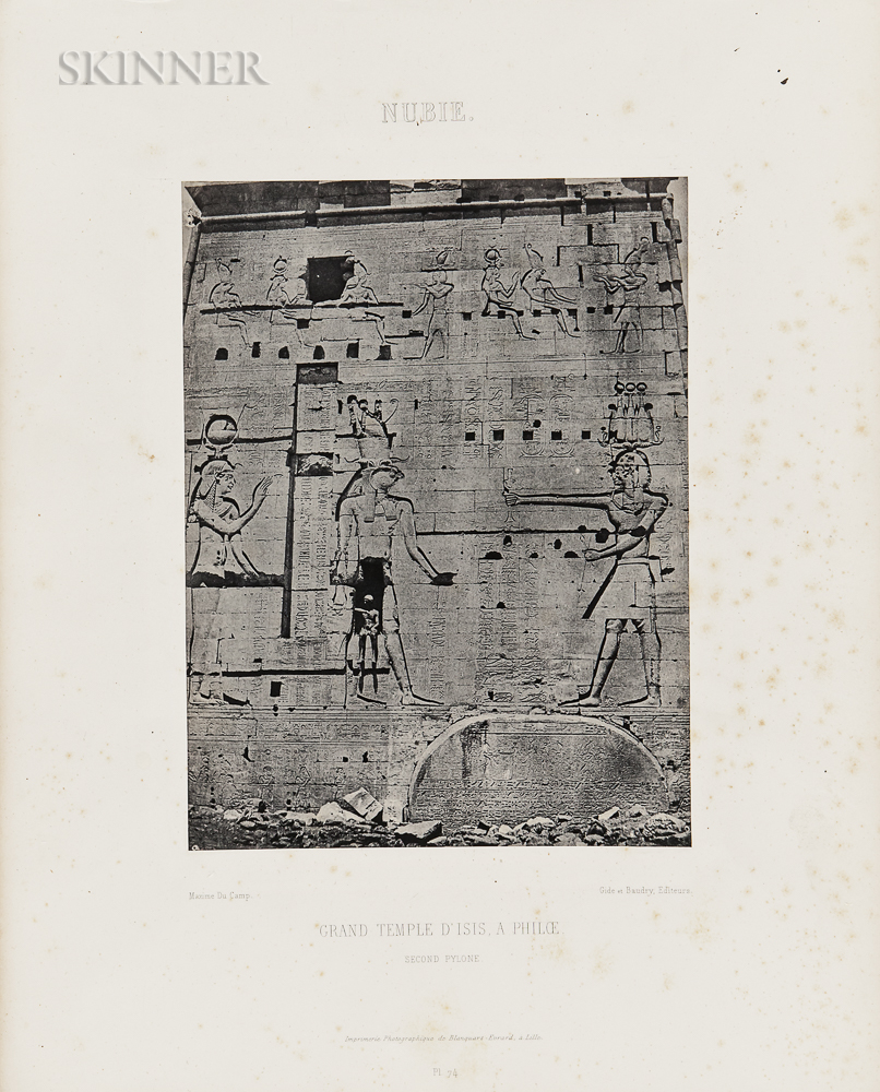 Maxime Du Camp (French, 1822-1894)      Eleven Plates from Egypte, Nubie, Palestine et Syrie