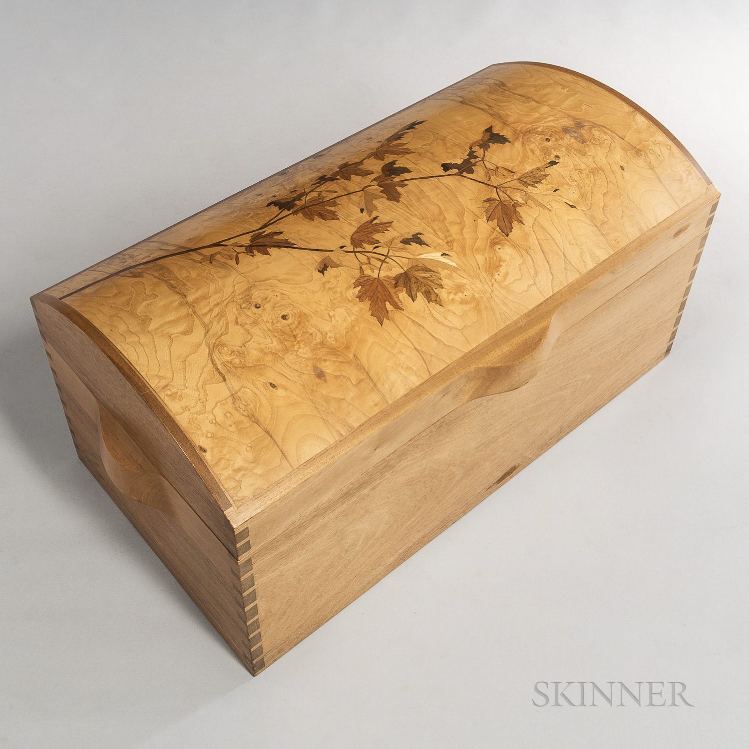Silas Kopf Marquetry Chest