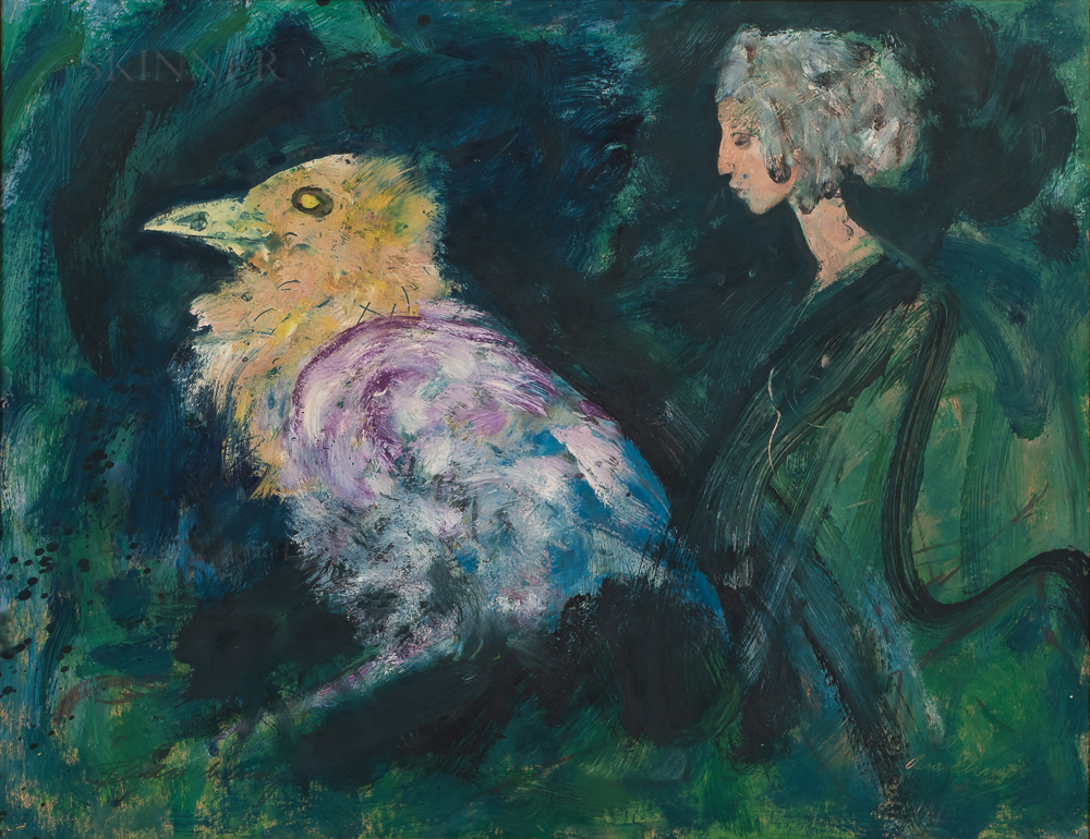 Robert Beauchamp (American, 1923-1995)      Woman and Bird
