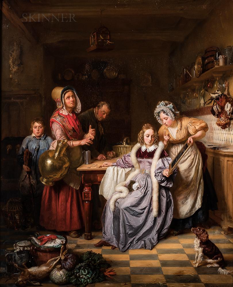 Josephus Laurentius Dyckmans (Belgian, 1811-1888)      Settling Accounts