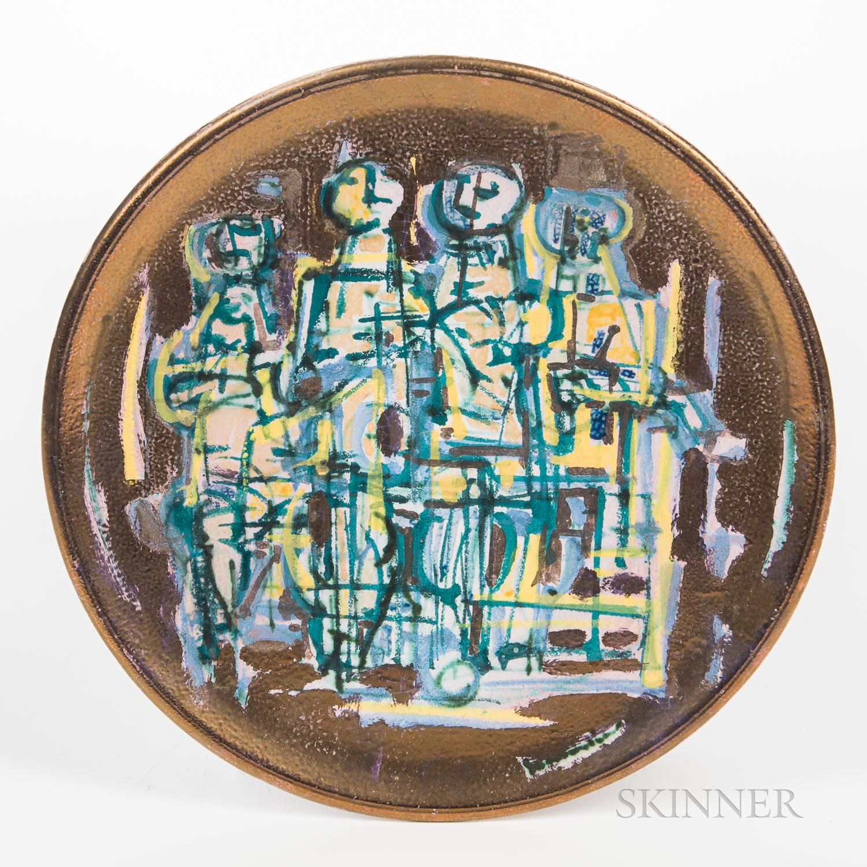 Emilio Scanavino (Italian, 1922-1986) Ceramic Exhibition Plate