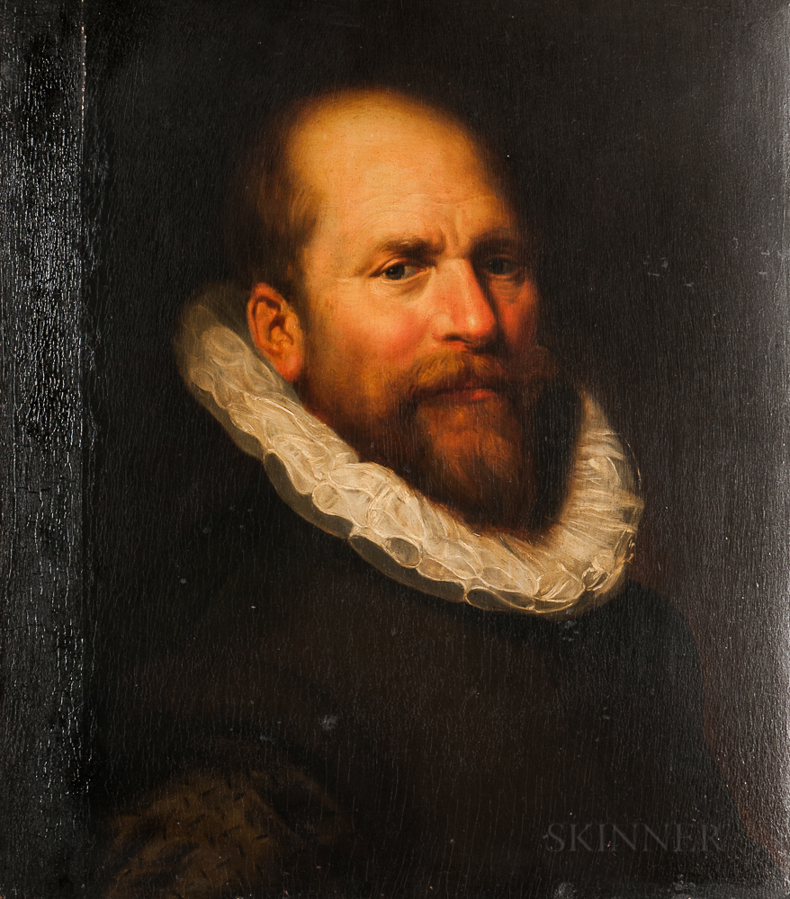 Circle of Michiel van Mierevelt (Dutch, 1567-1641), Portrait Head of a Bearded Man in a Ruff, Possibly William the Silent van Orange-Na