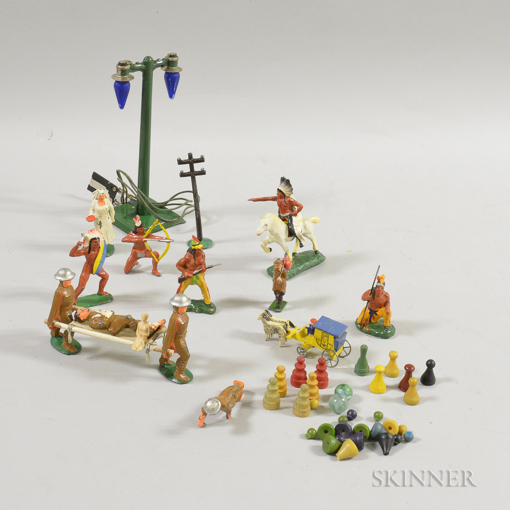 Small Group of Mostly Painted Lead Toy Soldiers.     Estimate $20-200