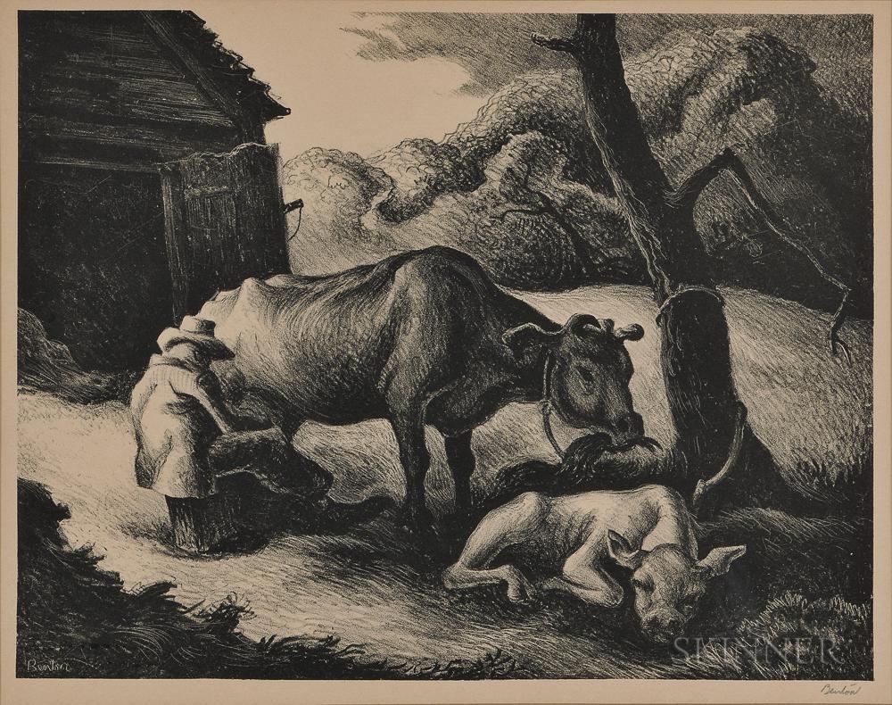Thomas Hart Benton (American, 1889-1975)      White Calf