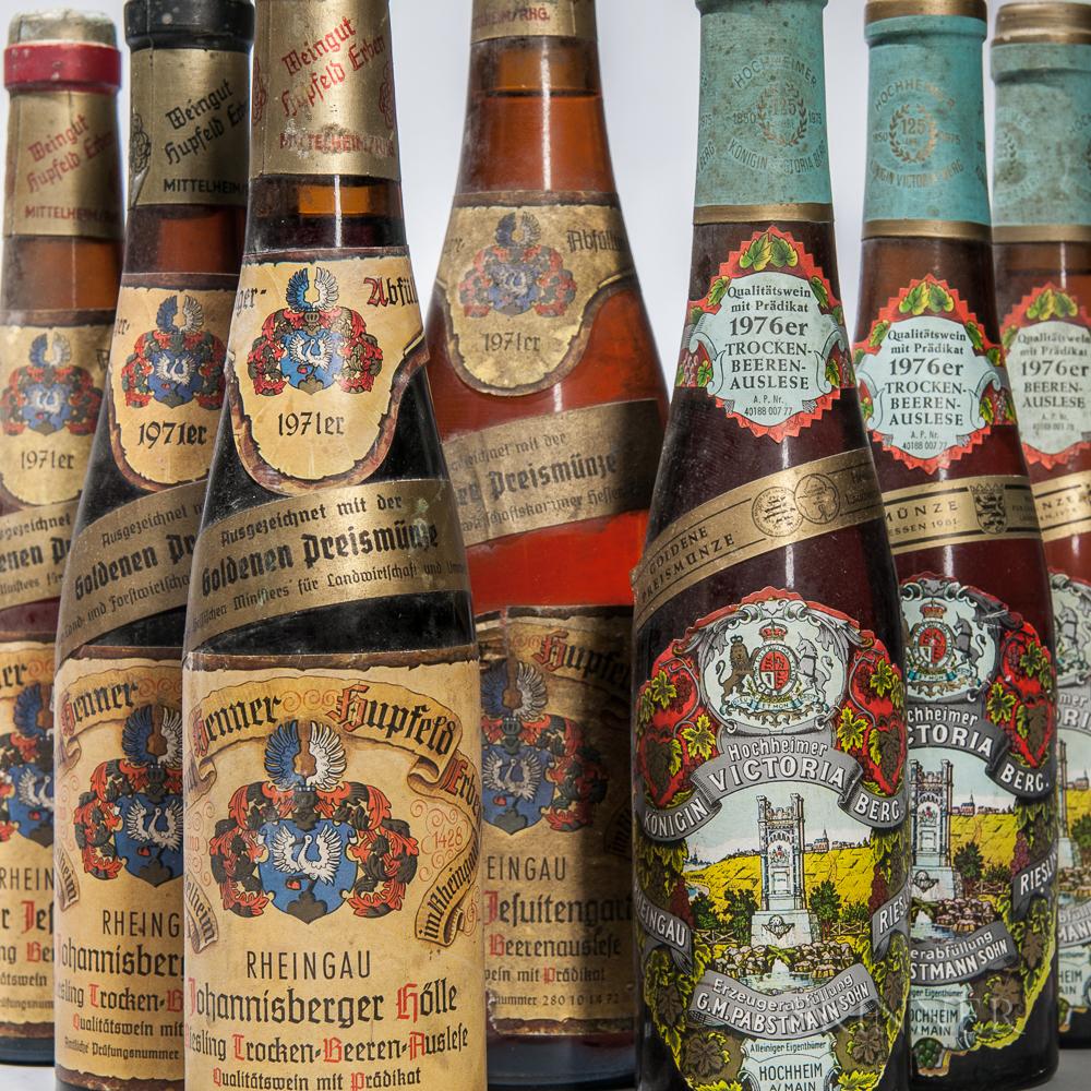 German Trockenbeerenauslese & Beerenauslese, 6 demi bottles 1 bottle