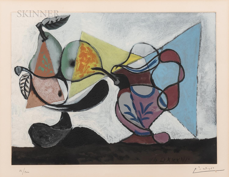 After Pablo Picasso (Spanish, 1881-1973)      Nature morte aux fruits