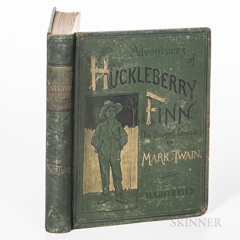 Twain, Mark (1835-1910), Huckleberry Finn.