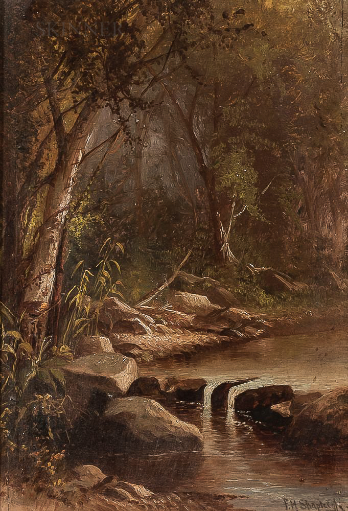 Frank Henry Shapleigh (American, 1842-1906)      Woodland Brook