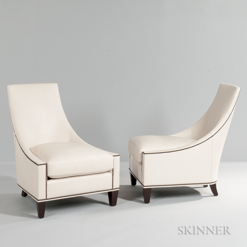Pair of Thomas Pheasant Bel Air Club Chairs