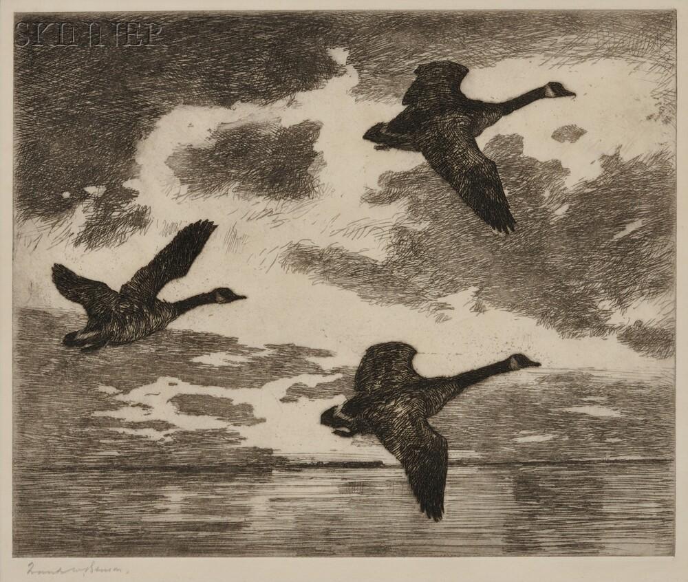 Frank Weston Benson (American, 1862-1951)      Cloudy Dawn