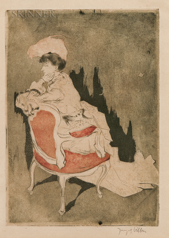 Jacques Villon (French, 1875-1963)      La Parisienne (tournée à gauche, petite planche)
