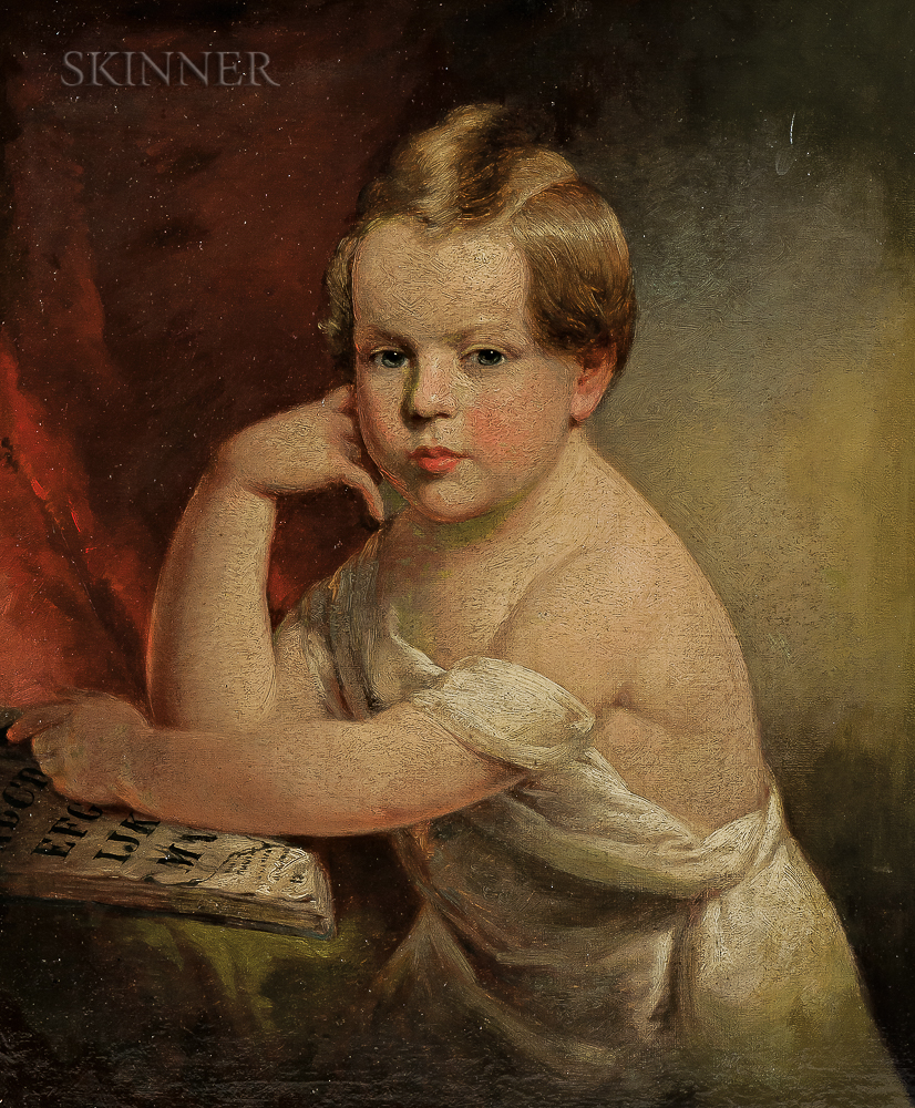 John B. Neagle (American, 1796-1865)     Portrait of a Young Child with an Alphabet Book