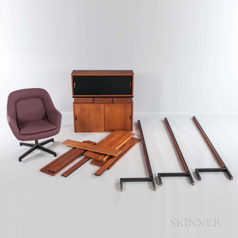 Danish Modern Teak Wall Unit and Task Chair