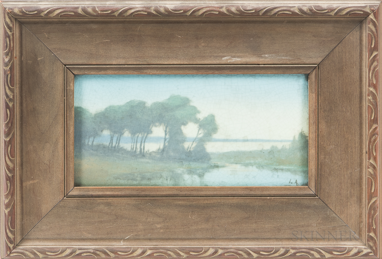 Lenore Asbury (1866-1933) for Rockwood Pottery Vellum Plaque