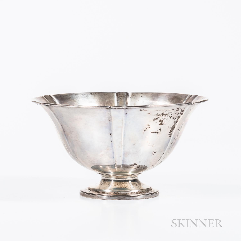 Arthur J. Stone (1847-1938) Sterling Silver Lobed Bowl