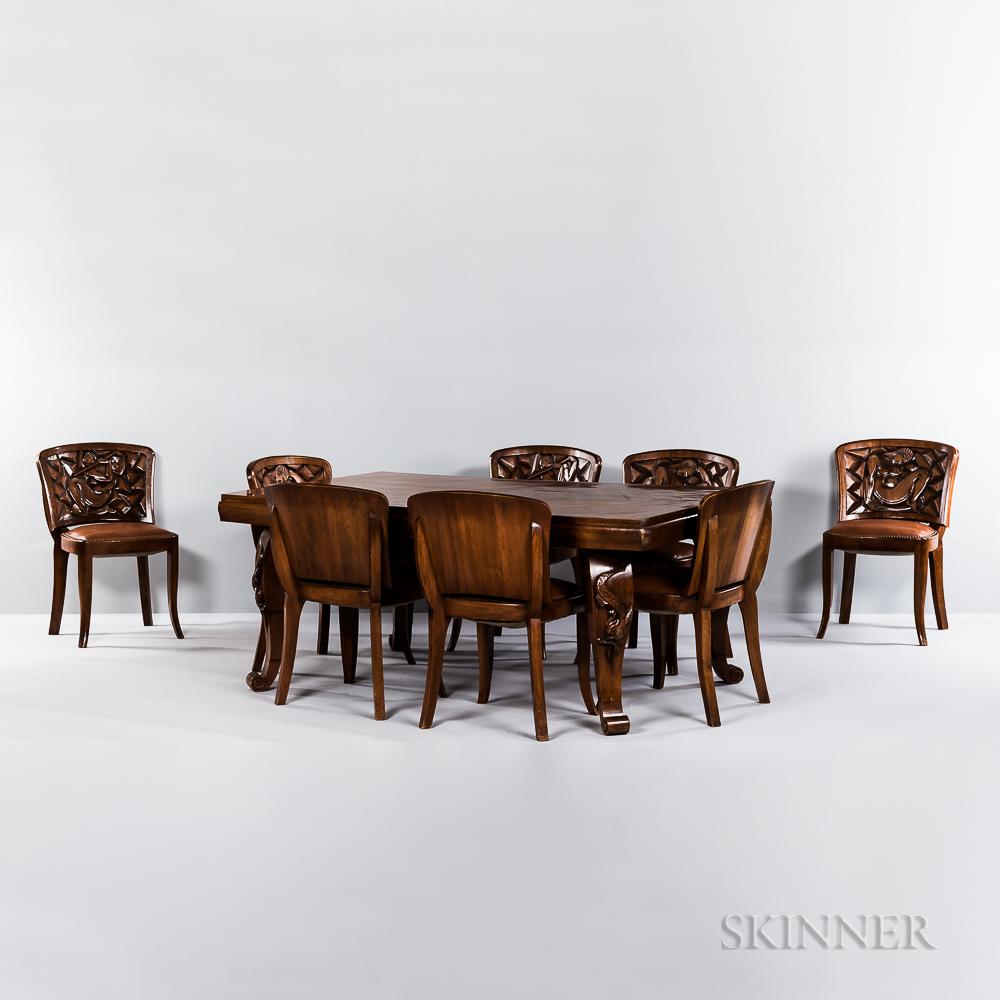 Mahogany Art Deco Dining Room Suite