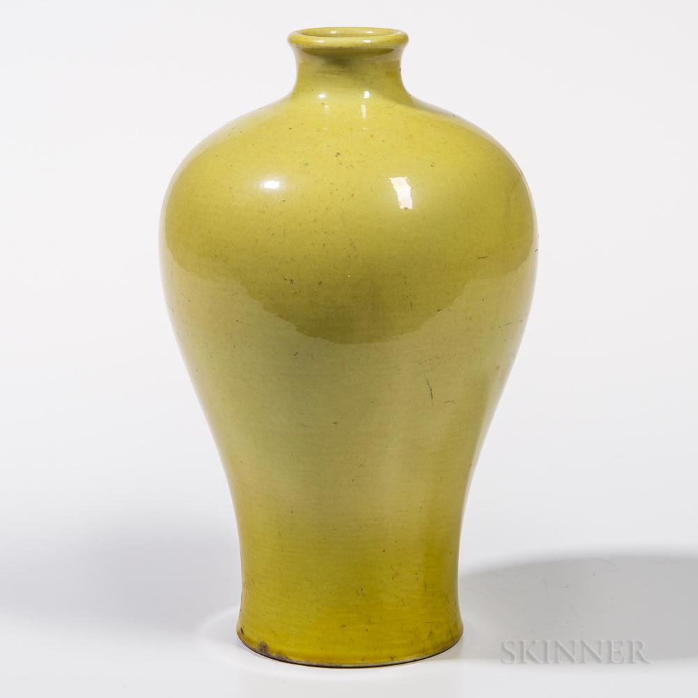 Yellow-glazed Meiping   Vase