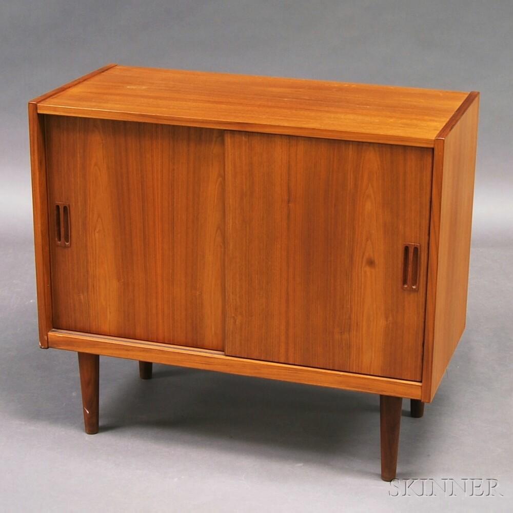 Mid-century Modern Teak Veneer Record Cabinet | Sale Number 2736M ...