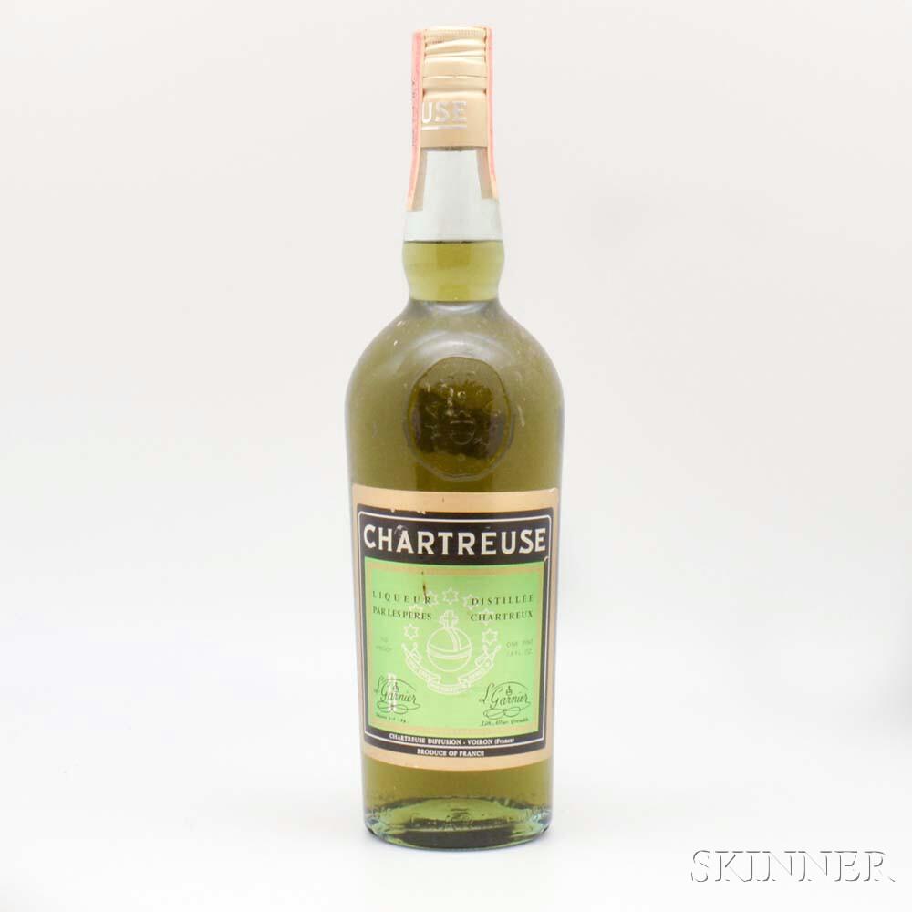 Green Chartreuse, 1 1-pint 7.6oz bottle